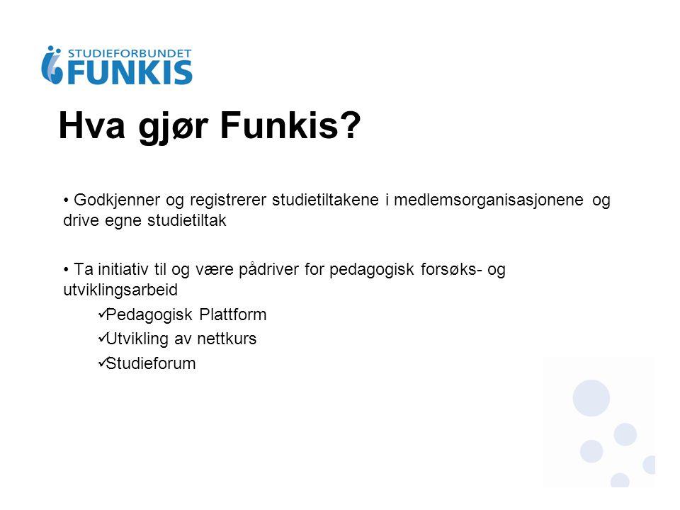 Funkis har 17 fylkesledd spredt over hele landet.
