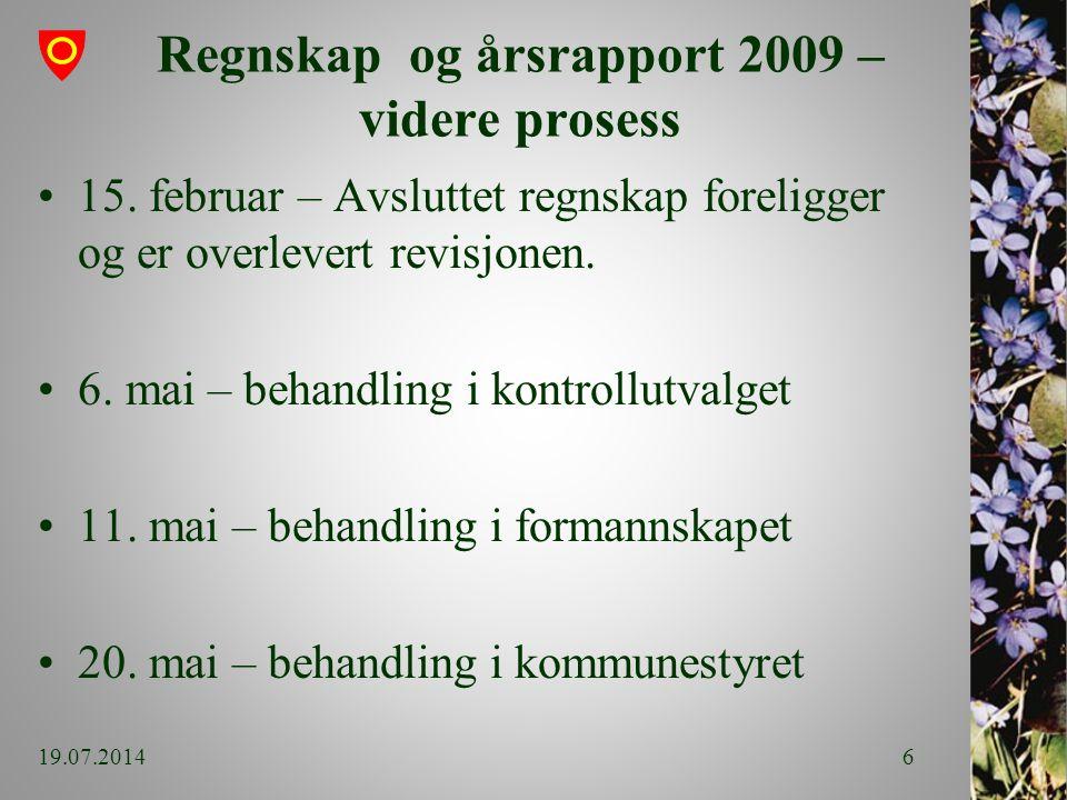 Regnskap og årsrapport 2009 – videre prosess 15.