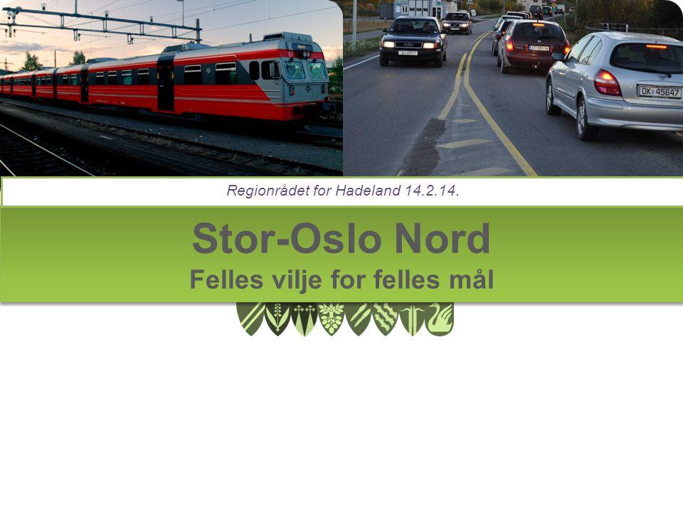 Stor-Oslo Nord Felles vilje for felles mål Regionrådet for Hadeland 14.2.14.