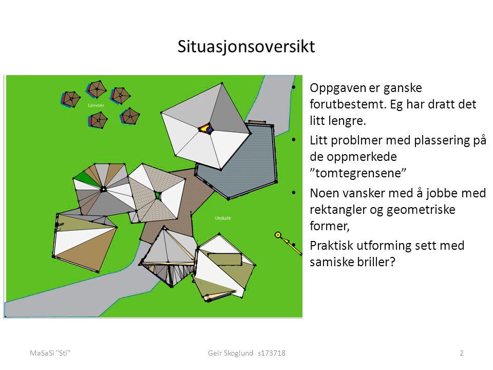 Inngangsparti, velkommen hit MaSaSi Sti Geir Skoglund s1737183 Tenker at det er viktig å informere om hva bygget huser.