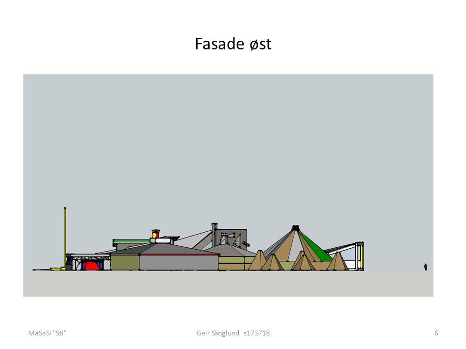 Fasade øst MaSaSi