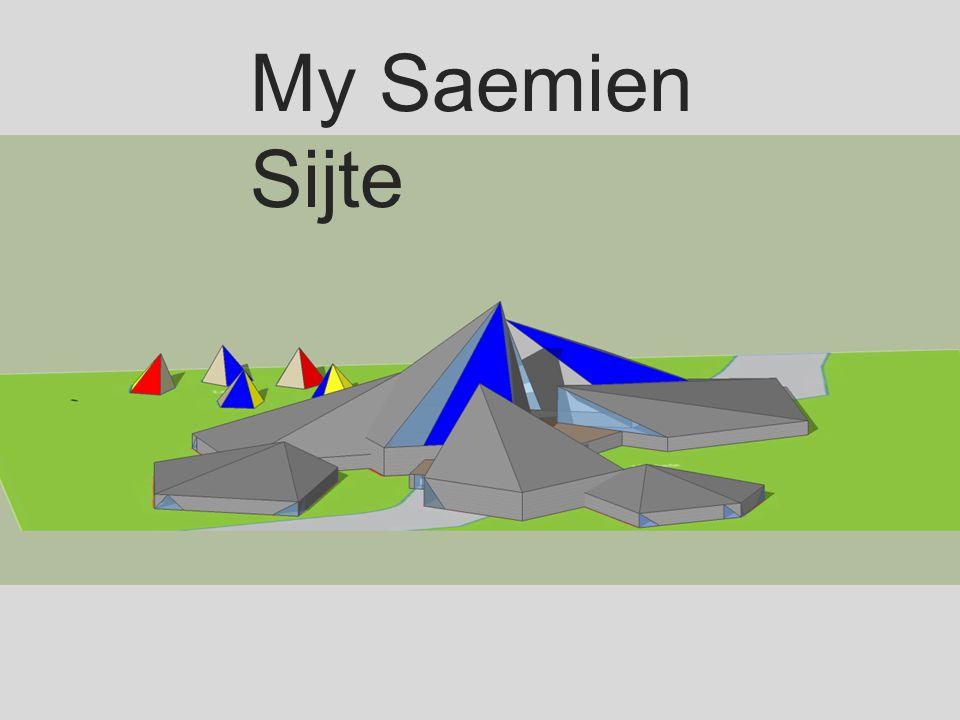 Et bygg med elementer fra samisk kultur Former inspirert av lavvo og gamme.