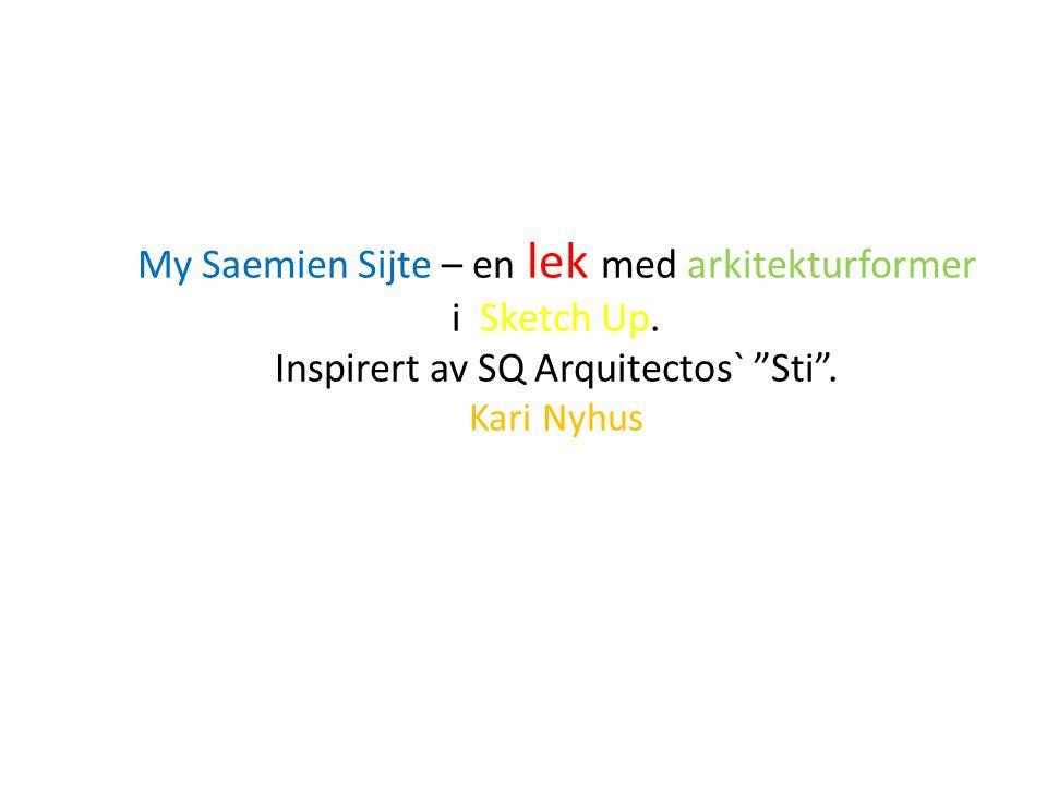 Et forslag til en modell av et sørsamisk museum – og kultursenter i Snåsa.