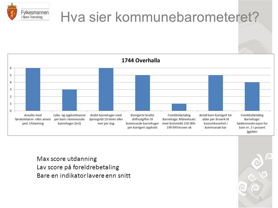 Hva sier kommunebarometeret.