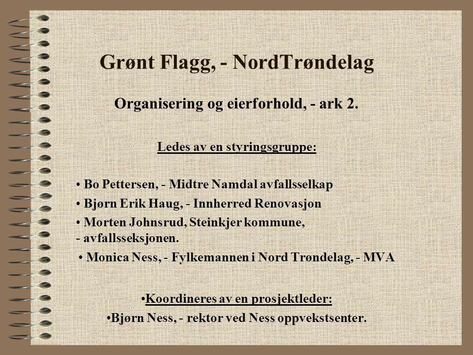 Grønt Flagg, - Nord Trøndelag Økonomi: Kr.15 000 fra hvert av avfallsselskapene, - kr.