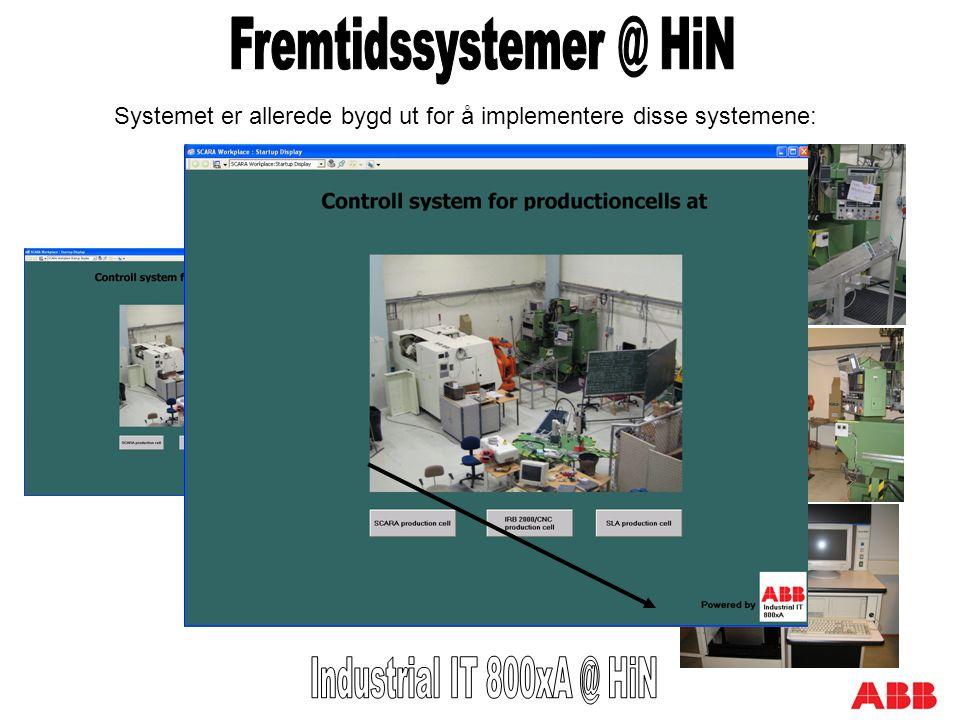 Systemet er allerede bygd ut for å implementere disse systemene: