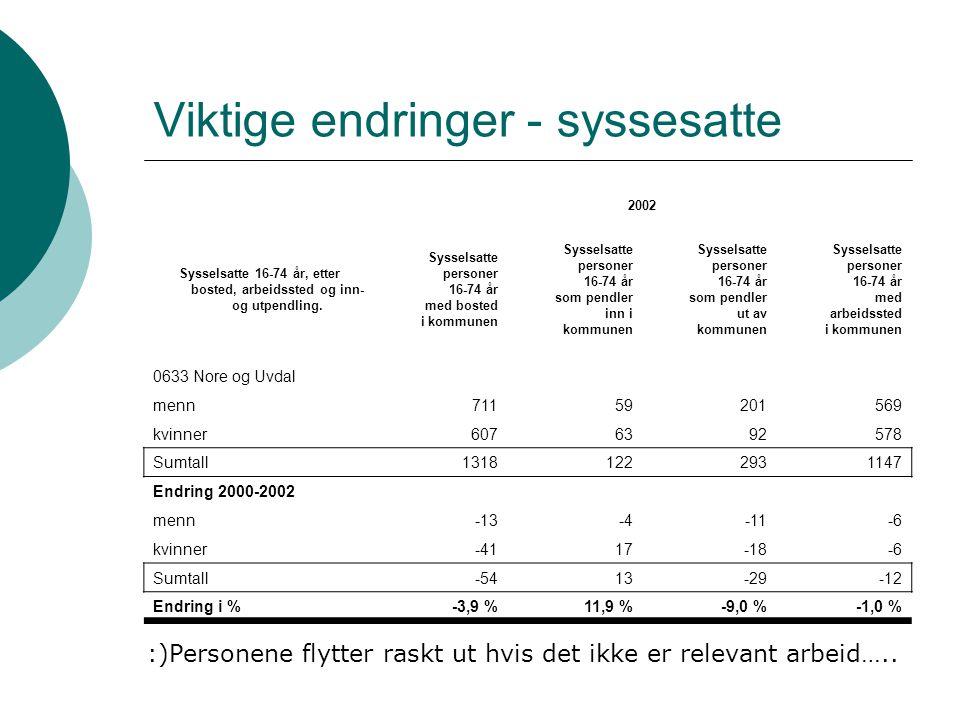 Nore og Uvdal støtter seg på naboer Hele 19,6% av arbeidstakerne bosatt i Nore og Uvdal kommune pendler ut av kommunen.