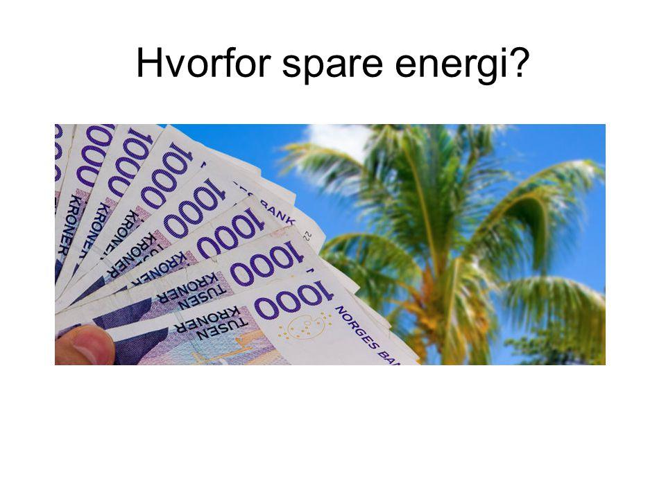 Hvorfor spare energi?