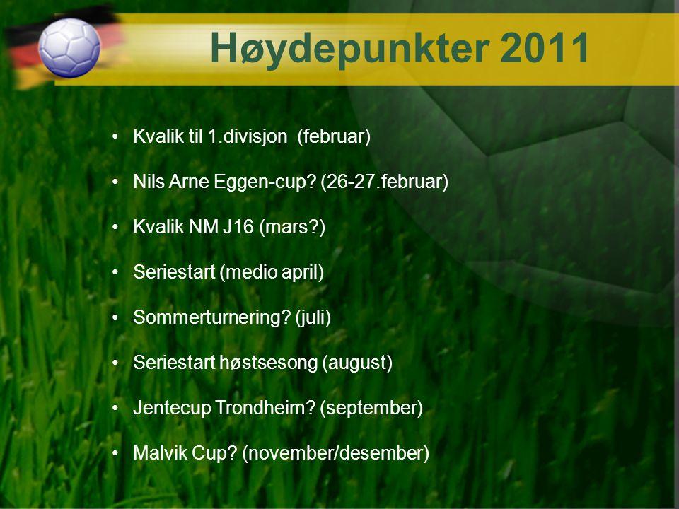 Høydepunkter 2011 Kvalik til 1.divisjon (februar) Nils Arne Eggen-cup? (26-27.februar) Kvalik NM J16 (mars?) Seriestart (medio april) Sommerturnering?