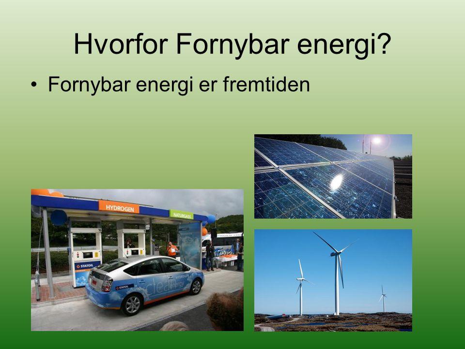 Fornybar energi er fremtiden