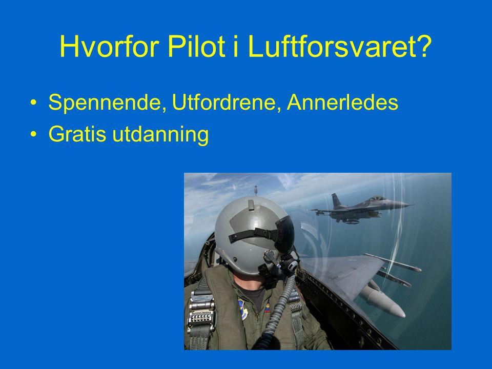 Hvorfor Pilot i Luftforsvaret? Spennende, Utfordrene, Annerledes Gratis utdanning