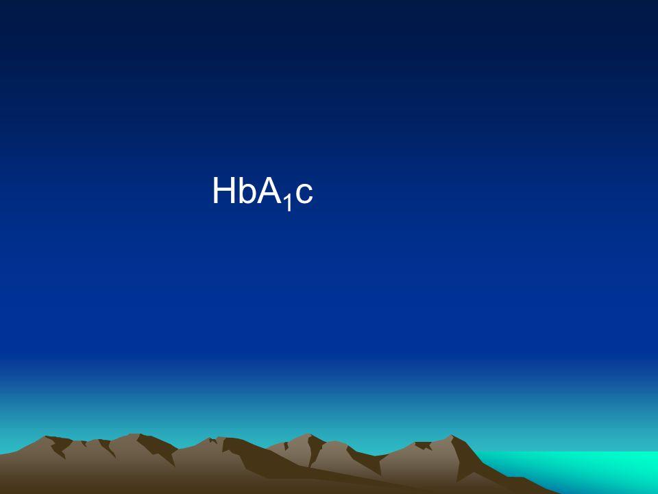 HbA 1 c