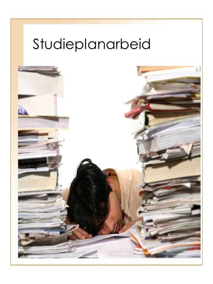 Studieplanarbeid