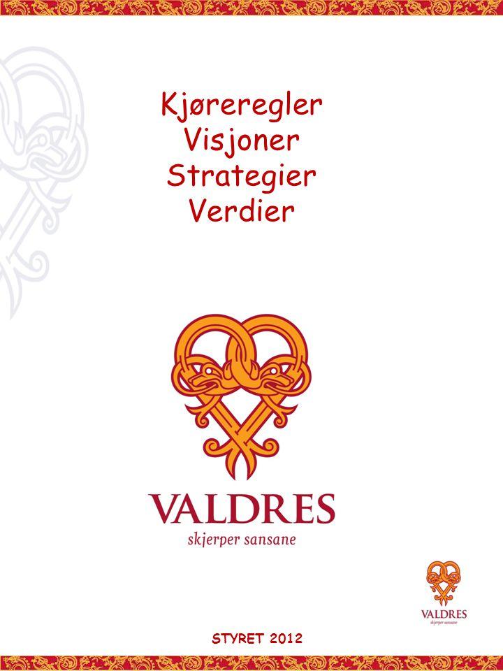 Kjøreregler Visjoner Strategier Verdier STYRET 2012
