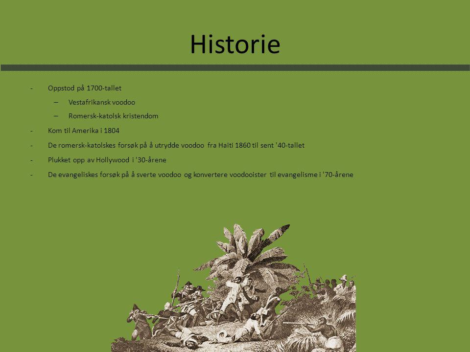 Historie -Oppstod på 1700-tallet – Vestafrikansk voodoo – Romersk-katolsk kristendom -Kom til Amerika i 1804 -De romersk-katolskes forsøk på å utrydde