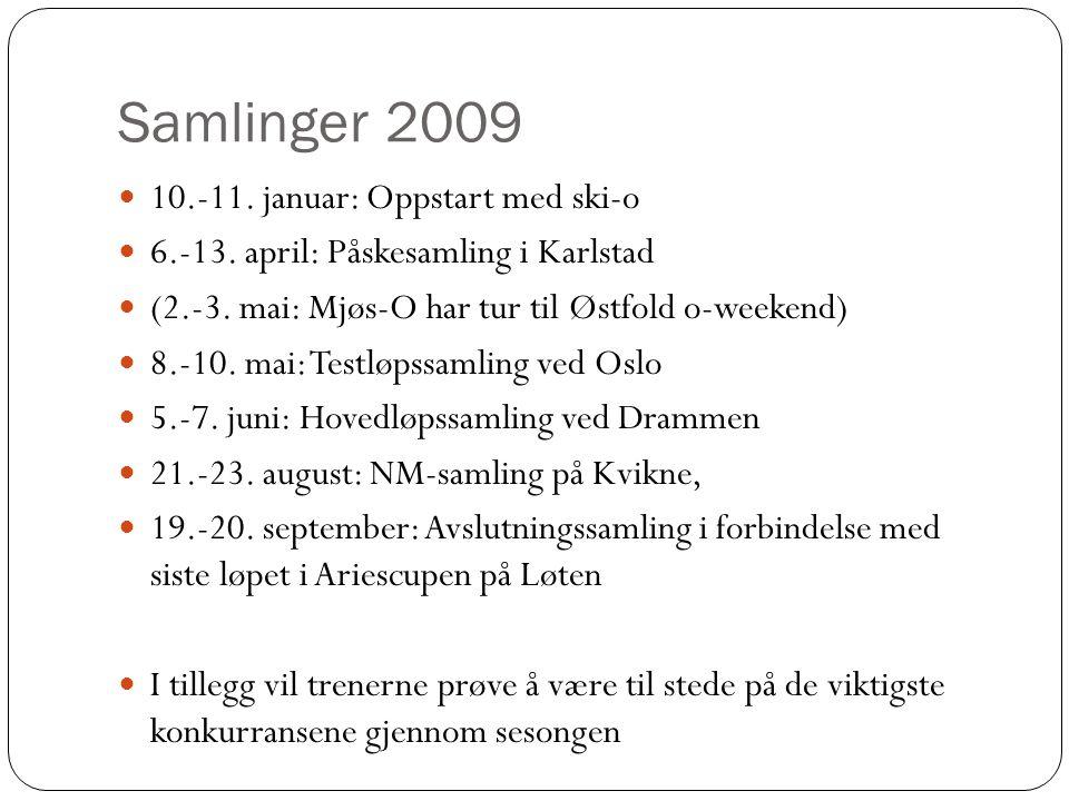 Samlinger 2009 10.-11. januar: Oppstart med ski-o 6.-13.