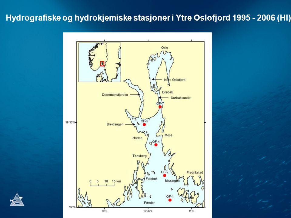 Hydrografiske og hydrokjemiske stasjoner i Ytre Oslofjord 1995 - 2006 (HI)
