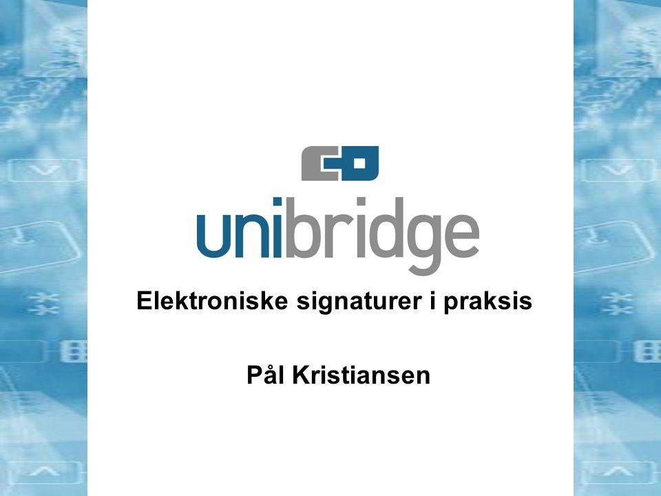 Innhold –Terminologi –eSignatur vs håndskreven signatur –Lovverk –Hva gjør offentlig sektor –Hva bør man tenke igjennom om man skal velge riktig eSignatur løsning –Oppsummering