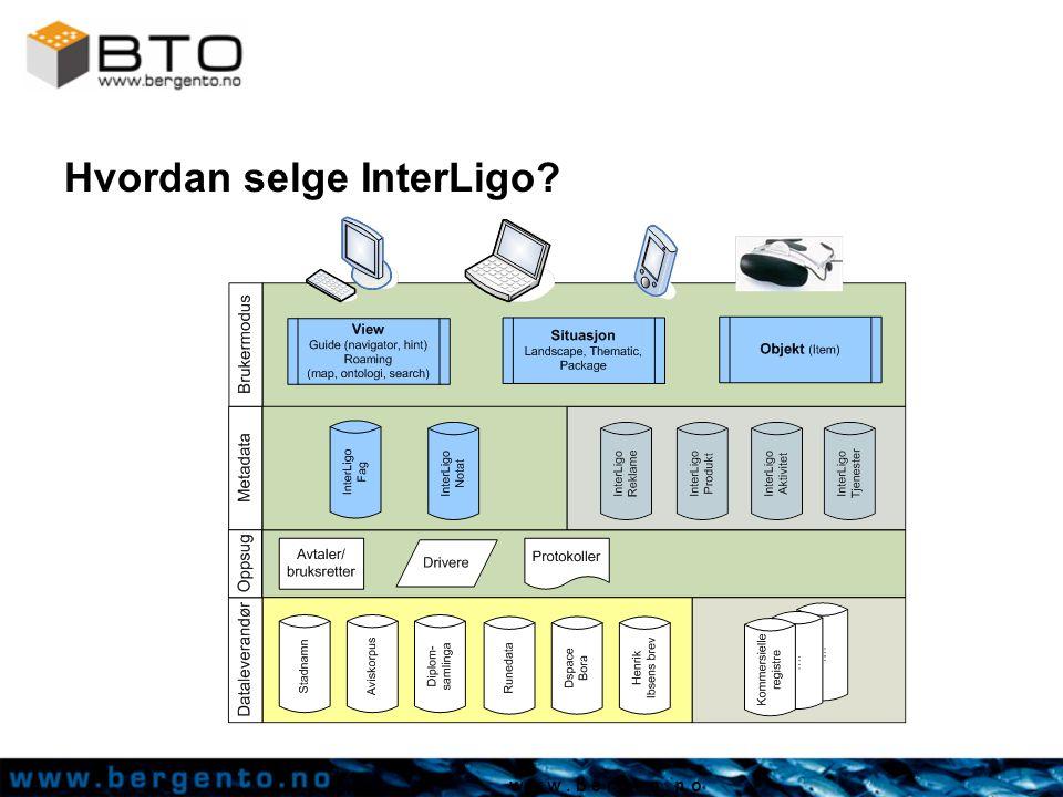 w w w. b e r g e n. n o Hvordan selge InterLigo?