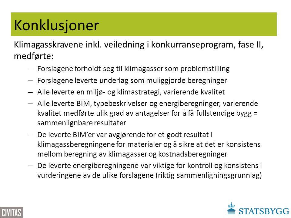 Konklusjoner Klimagasskravene inkl.