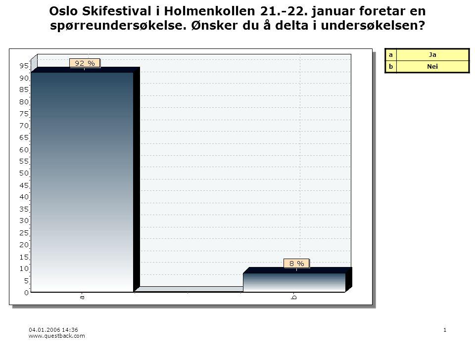 04.01.2006 14:36 www.questback.com 1 Oslo Skifestival i Holmenkollen 21.-22.