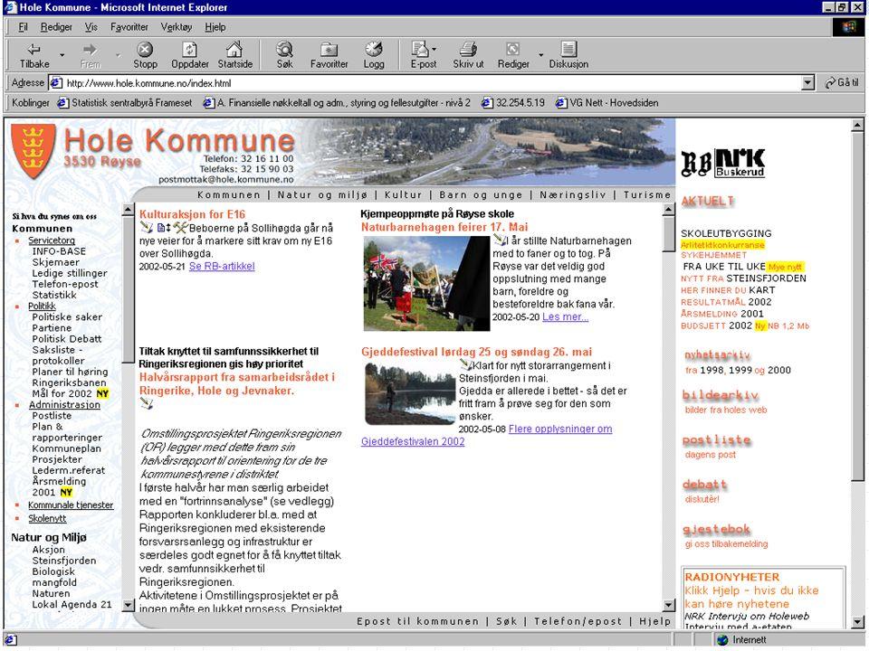 LIT styring…. Hole kommune v/ Tore M. Andresen