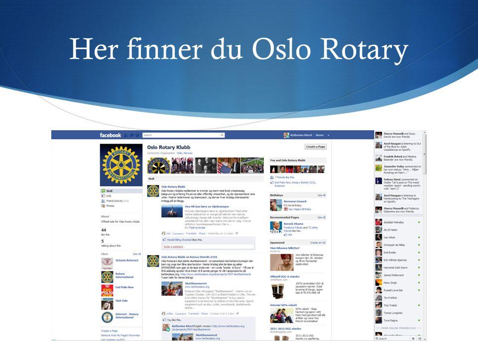 Her finner du Oslo Rotary