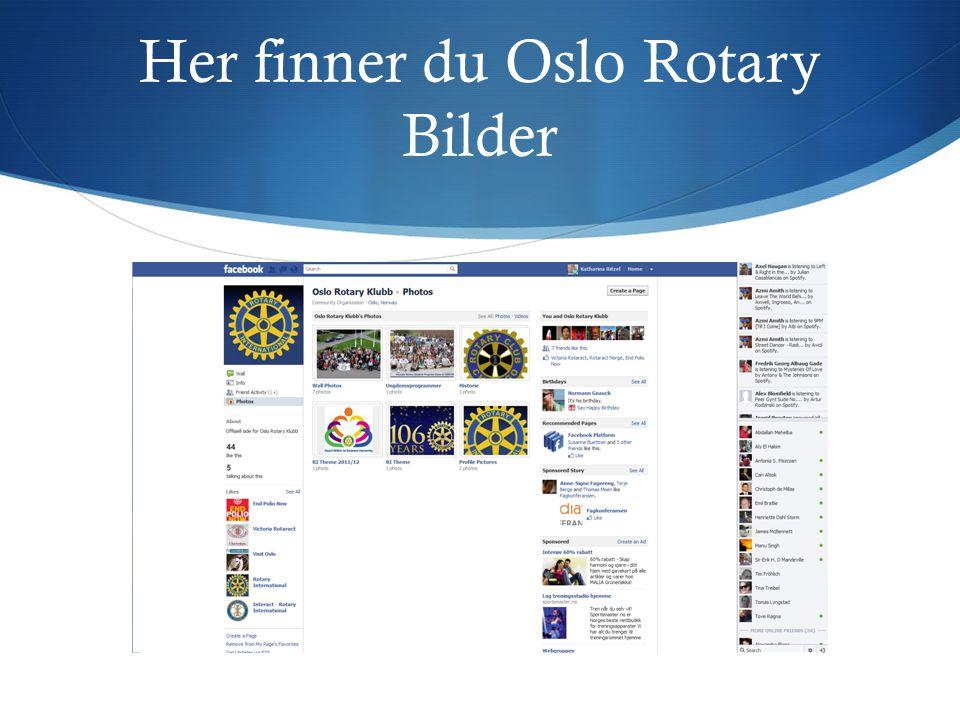 Her finner du Oslo Rotary Bilder