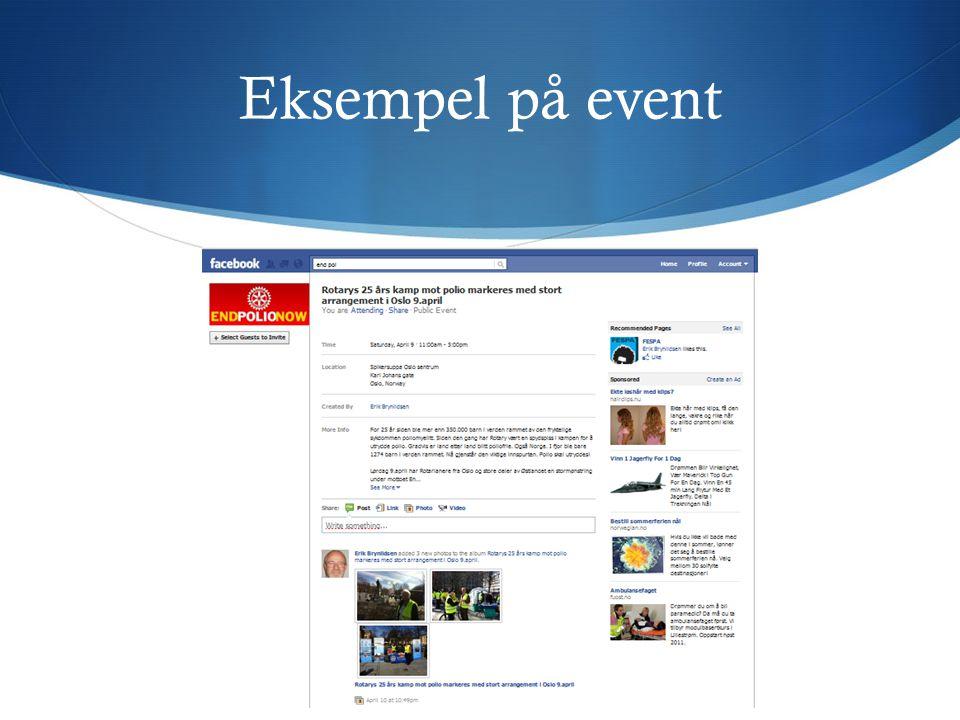 Eksempel på event