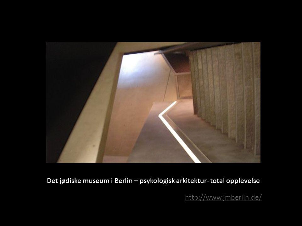 Det jødiske museum i Berlin – psykologisk arkitektur- total opplevelse http://www.jmberlin.de/