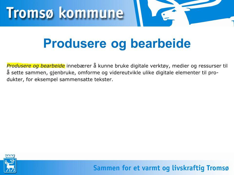 Produsere og bearbeide Sett inn tekst