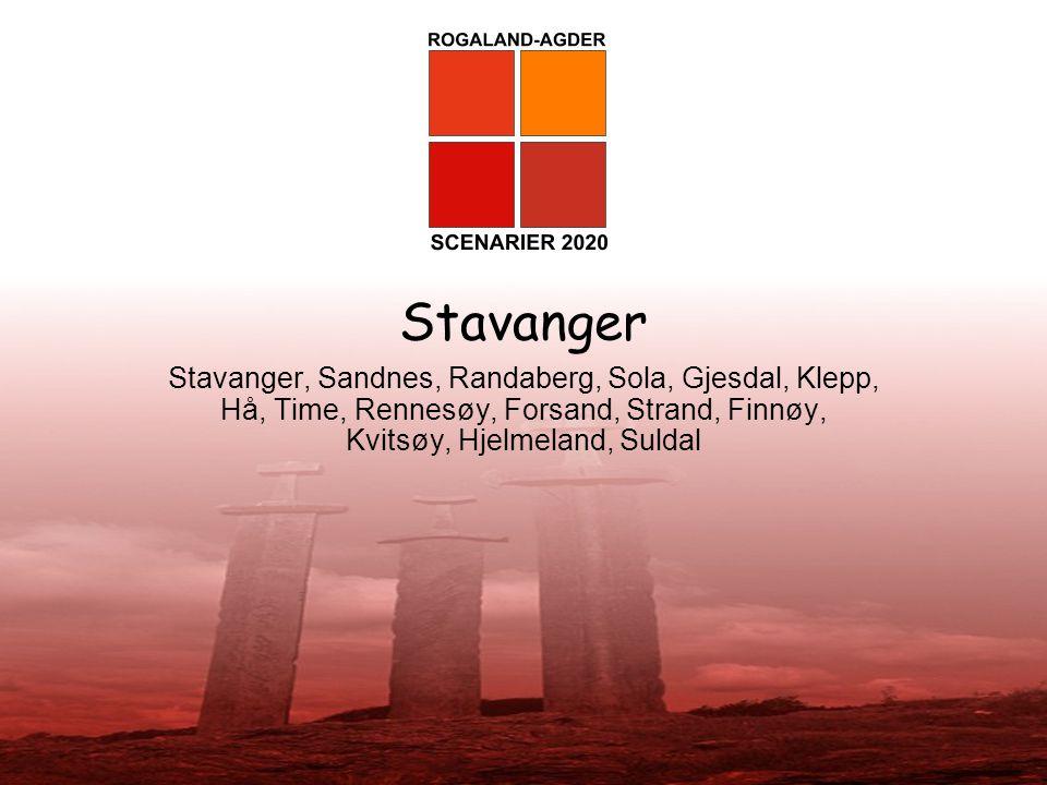 Stavanger Stavanger, Sandnes, Randaberg, Sola, Gjesdal, Klepp, Hå, Time, Rennesøy, Forsand, Strand, Finnøy, Kvitsøy, Hjelmeland, Suldal