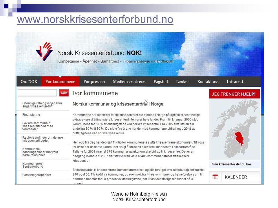Wenche Holmberg Nielsen Norsk Krisesenterforbund www.norskkrisesenterforbund.no