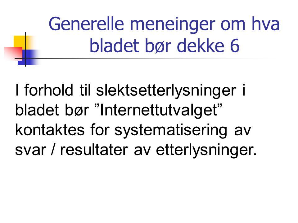 Tema (9) Slektstreff Fra A til Å....