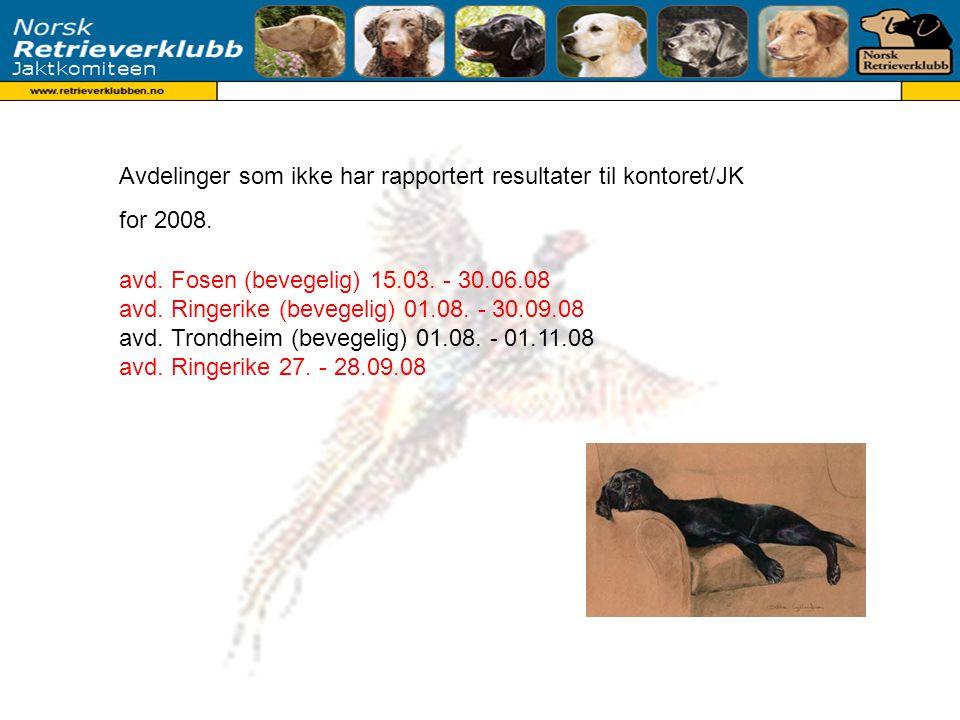 avd. Fosen (bevegelig) 15.03. - 30.06.08 avd. Ringerike (bevegelig) 01.08.