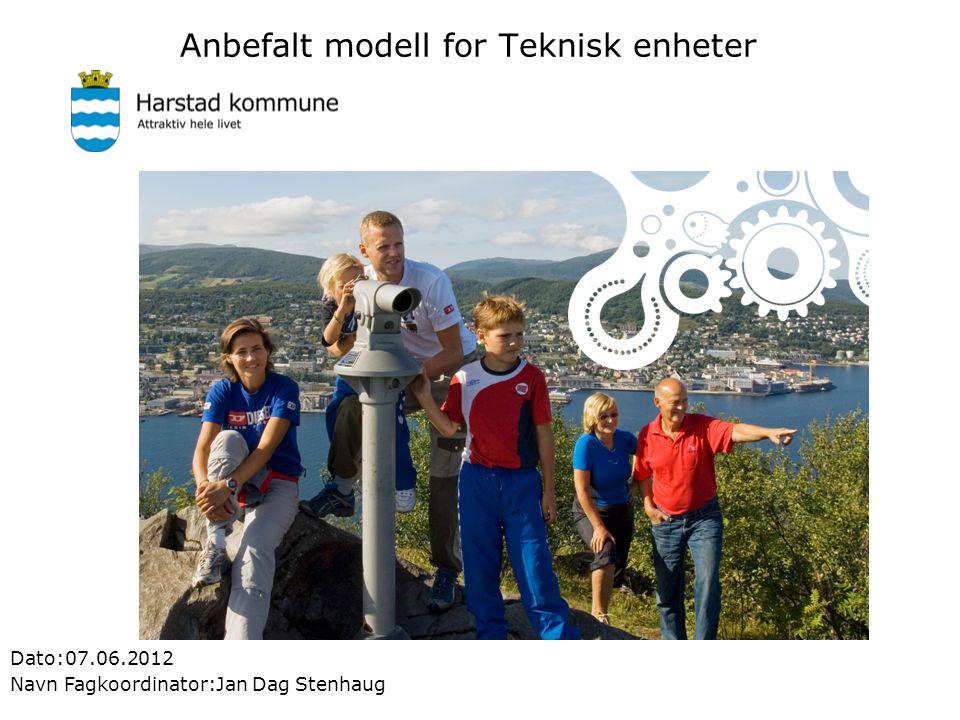 Anbefalt modell for Teknisk enheter Dato:07.06.2012 Navn Fagkoordinator:Jan Dag Stenhaug