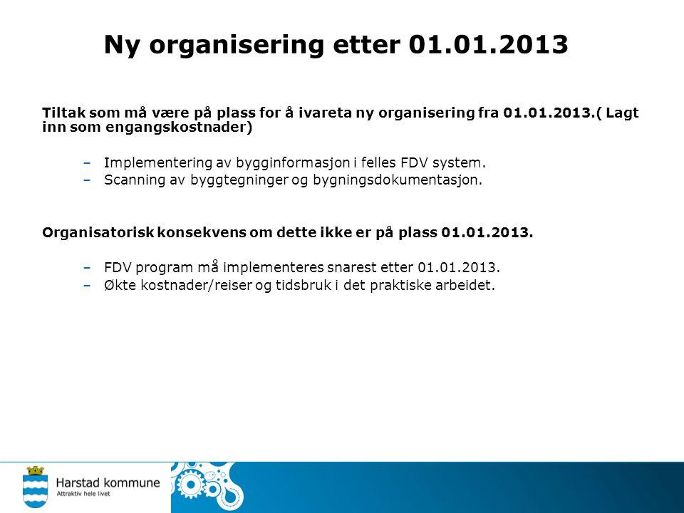Ny organisering etter 01.01.2013 Areal- og byggesak.
