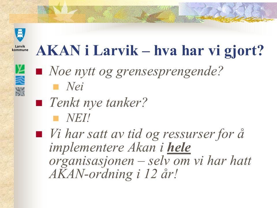 AKAN i Larvik – hva har vi gjort.Noe nytt og grensesprengende.