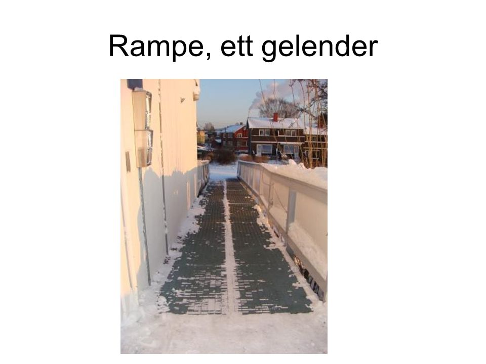 Rampe, ett gelender
