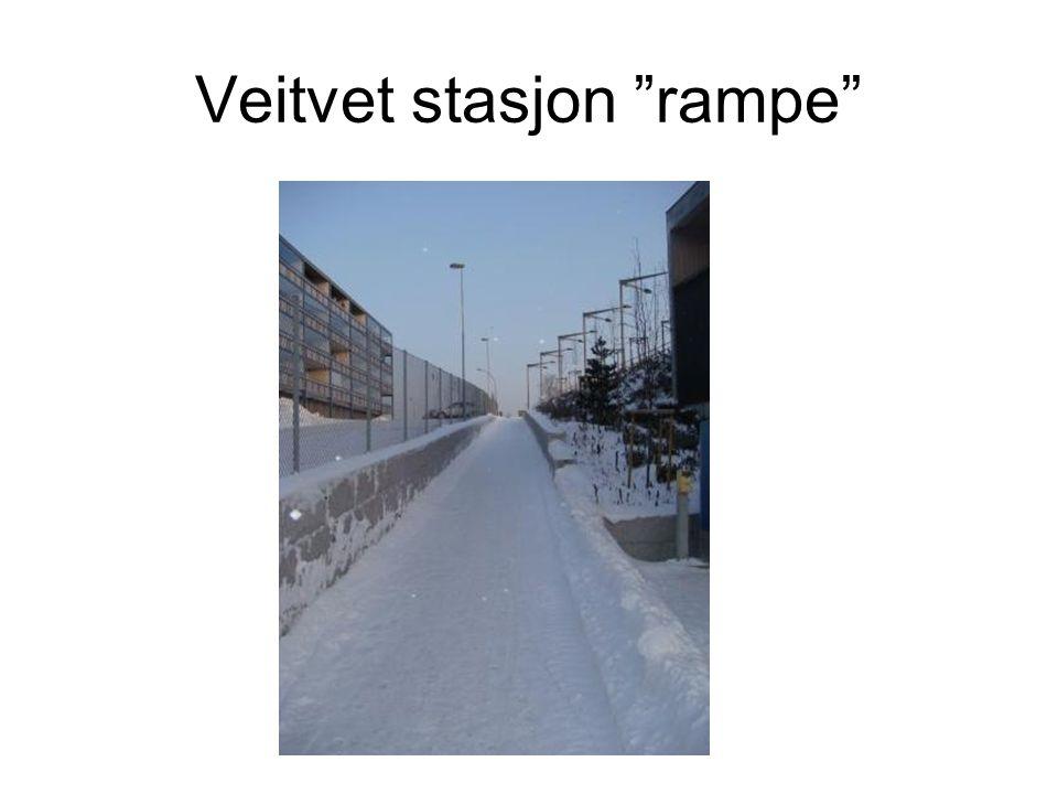 """Veitvet stasjon """"rampe"""""""