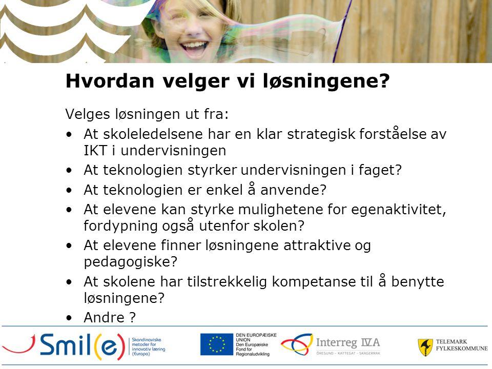 Valg av teknologier / løsninger Segmentering av elever.