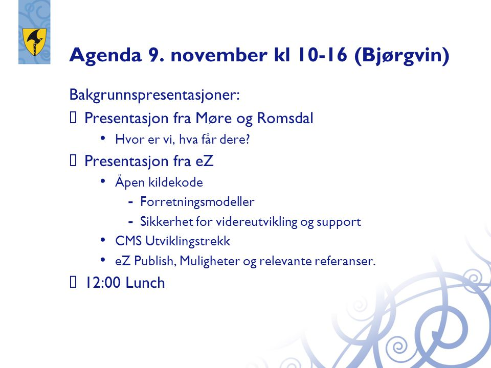 Agenda 9.