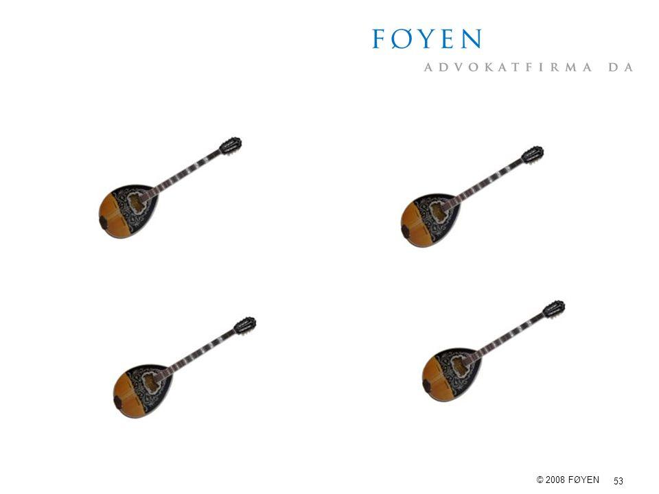 53 © 2008 FØYEN