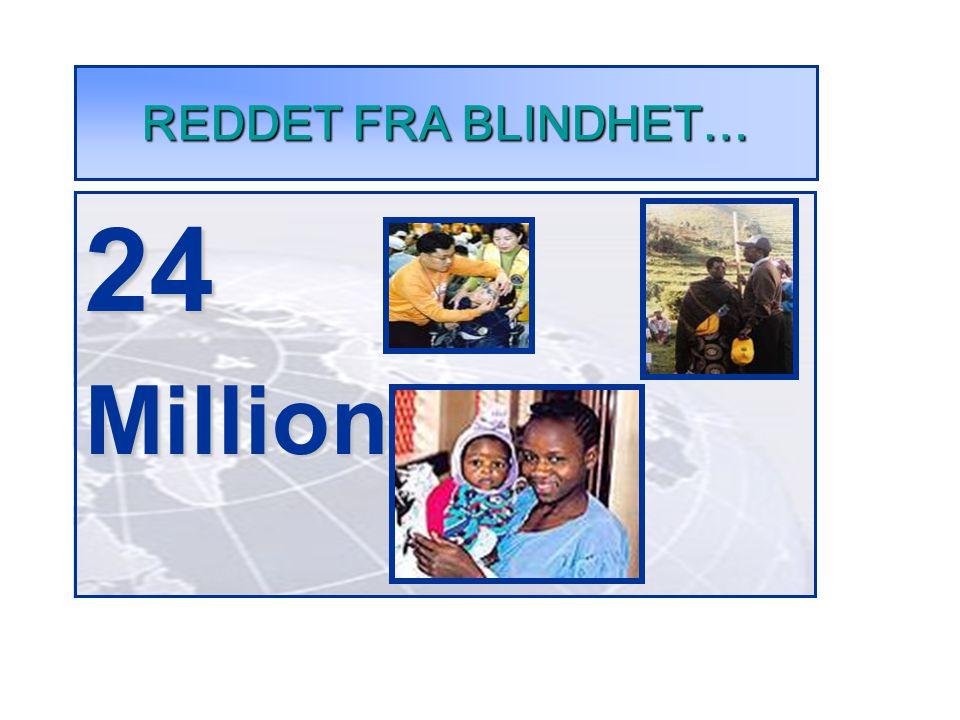 REDDET FRA BLINDHET… 24Millioner