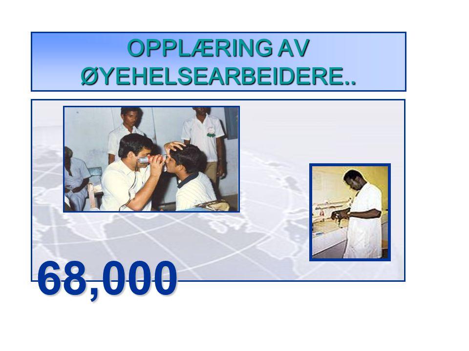 OPPLÆRING AV ØYEHELSEARBEIDERE.. 68,000
