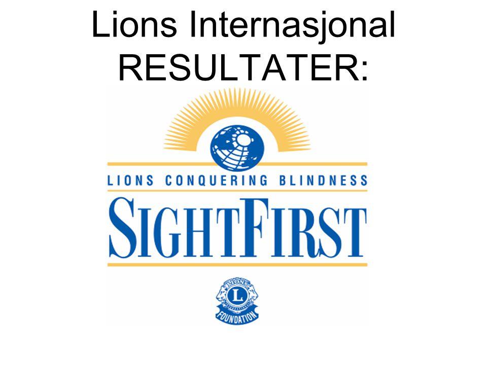 Lions Internasjonal RESULTATER: