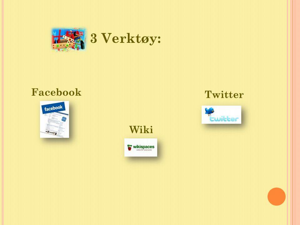 3 Verktøy: Facebook Wiki Twitter