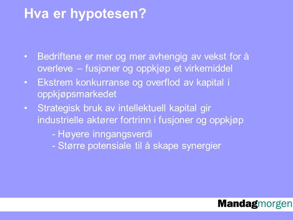 Hva er hypotesen.