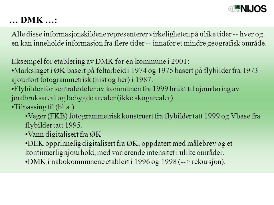… DMK …: Alle disse informasjonskildene representerer virkeligheten på ulike tider -- hver og en kan inneholde informasjon fra flere tider -- innafor