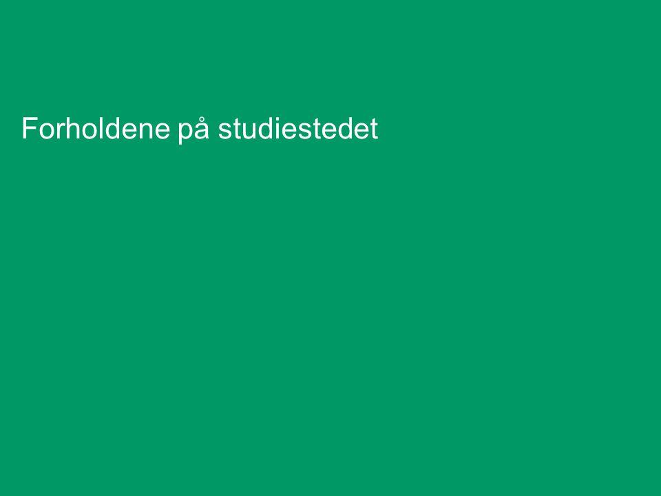 Forholdene på studiestedet